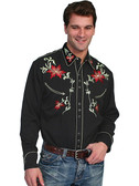 Embroidered Mens Western Shirts Floral