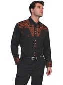 Embroidered Mens Western Shirts Gunfighter 43311