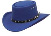 Gambler Cowboy Hat Faux Wool Felt