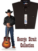 Geeorge Strait Collection Buttondown Collar Straight Back Yoke