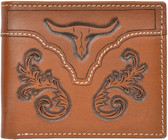3D Brown Western Bifold Wallet 63316