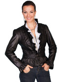 LADIES BLACK LAMB JACKET 62354