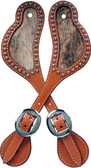3D Natural Large Spur Straps w/Hair On