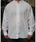 Light Weight Open Front Pioneer Wedding Shirt  In 3 Colors Black, Natural  & Green
