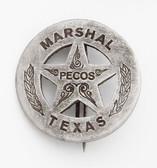 Marshal Pecos Texas Badge
