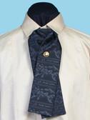 Morgans Puff  Silk Tie Black Floral Pattern