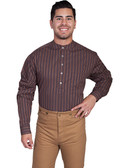 Cotton pullover shirt with a Band Collar--Your Western Clothing Store 43292