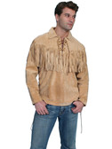 Mountain Man Leather Shirt By Scully