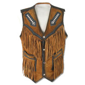 NATIVE STYLED FRINGED BEADED VEST