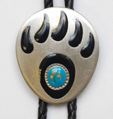 New Bear Claw Bolo Tie With Turquiose