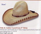 NEW 2009 OAK AND AMBER LACED Cowboy Hat