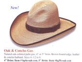 NEW 2009 OAK AND CONCHO Cowboy Hat Cowboy Hat