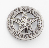 OLD WEST BADGE TEXAS RANGER (PESO BACK) SILVER