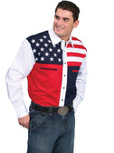 PATRIOTIC RED WHITE AND BLUE SHIRT