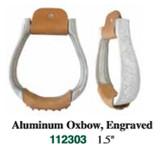 1 Pair Stirrups Aluminum Oxbox 1.5  Inch