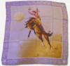 Blake Blue Silk Scarf with Bucking Horse