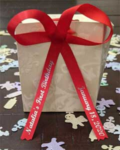 Red Birthday Personalized Ribbon