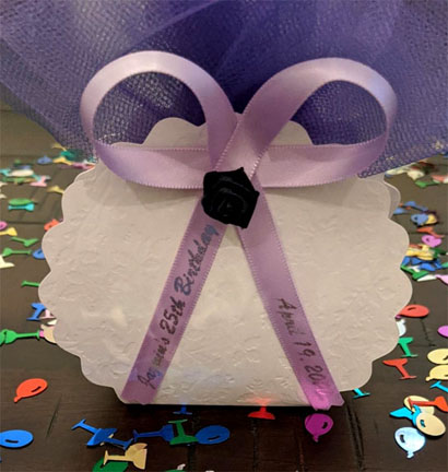 Lavender Favor Ribbon