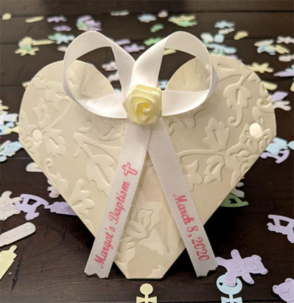 Baptism Favor Ribbon