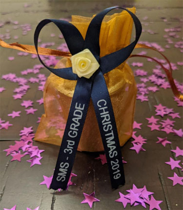 Navy Blue Personalized Ribbon
