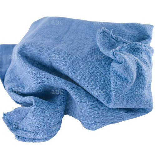 Towels -- Used Huck 100% Cotton - Blue - 05 Pounds