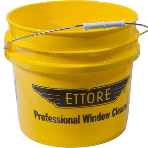 Bucket -- Ettore - 3 1/2 Gallon Round - Yellow - 2 Pack