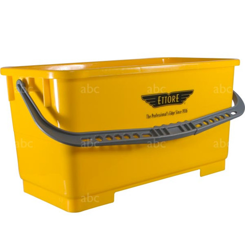 Bucket -- Ettore - 6 Gallon Rectangular - Yellow - Each