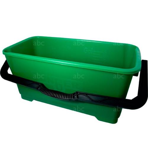 Bucket -- Unger - 6 Gallon Rectangular - Green - Each
