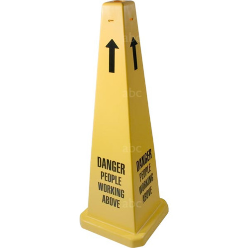 """Cone -- 35"""" Safety Cone - DANGER PEOPLE WORKING ABOVE - formerly 3005563-01 - Each"""