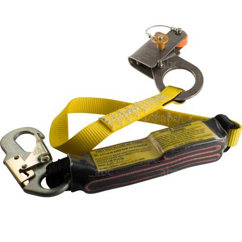 """Grab w/ Lanyard -- 7/16"""" - MIO - RG Series Orange Button - 3' Shock Absorbing Lanyard"""