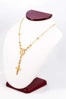 YELLOW GOLD NECKLACE, YG21KNECKLACE022, Size:Large, Weight:0g