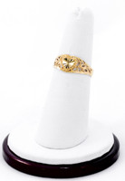 Yellow Gold Ring 21K, YGRING0197, Weight: 0g