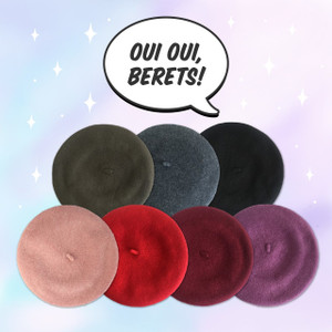 Beret Hat - Wool - Wildflower + Co.