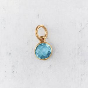 JW00206 Birthstone - Blue Topaz - Light Blue - Charm Pendant - Wildflower.Co - Main