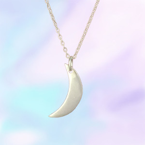 Moon Charm Necklace, Sterling Silver or Gold Dipped - Personalize It!