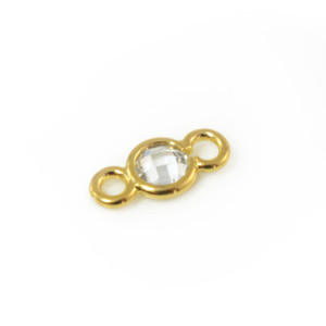 Dainty CZ Gold Connector - Jewelry Making - Wildflower + Co.
