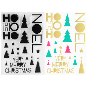 Geometric Christmas Clear Stamps -  Stamping & Papercraft Supplies - Wildflower + Co.
