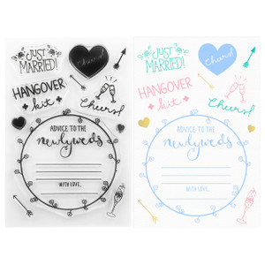DIY Wedding Clear Stamps -  Wedding Reception Cocktail Hour - Stamping & Papercraft Supplies - Wildflower + Co.