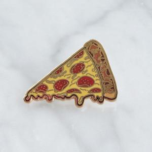 Pizza Slice Flair Pin - Enamel - Tiny - Pepperoni - Wildflower + Co. - Multiples - Turq2