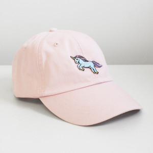 Unicorn Embroidered Baseball Hat - Cap - Patch - Pastel - Wildflower + Co.