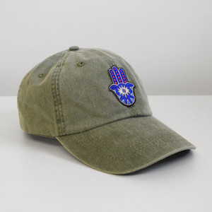 Hamsa Embroidered Baseball Hat - Cap - Patch - Spiritual - Wildflower + Co.
