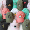 Whimsical Embroidered Baseball Hats - Patches - Wildflower Co - Black Pastel Pink Coral Mermaid Aqua Green Cactus Fatigue Green White