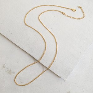 """28"""" Fine Chain Necklace Gold Long Layered"""