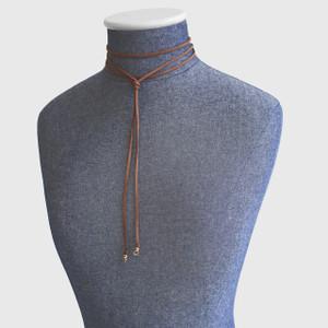 Wrap Necklace - Bolo - Bolero - Brown - Mannequin