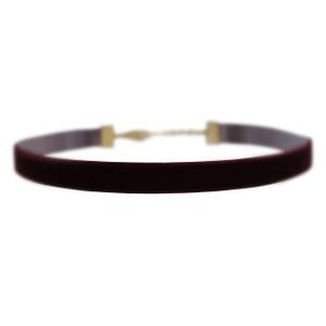 Velvet Choker Necklace, Burgundy