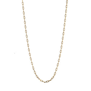 """Fine Box Chain Necklace, 32"""" Long, Gold"""
