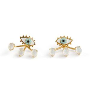 Eye & Teardrop Stud Earrings & Ear Jackets   Wildflower + Co.