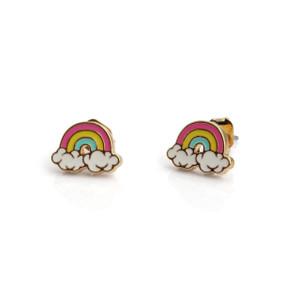 Rainbow Stud Earrings   Colorful & Gold   Wildflower + Co.