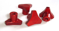 Associated Monster GT Red Anodized Knock Off Wheel Hub Nuts