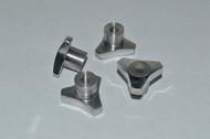 Revo Machined Finish Aluminum Knock Off Wheel Hub Nuts